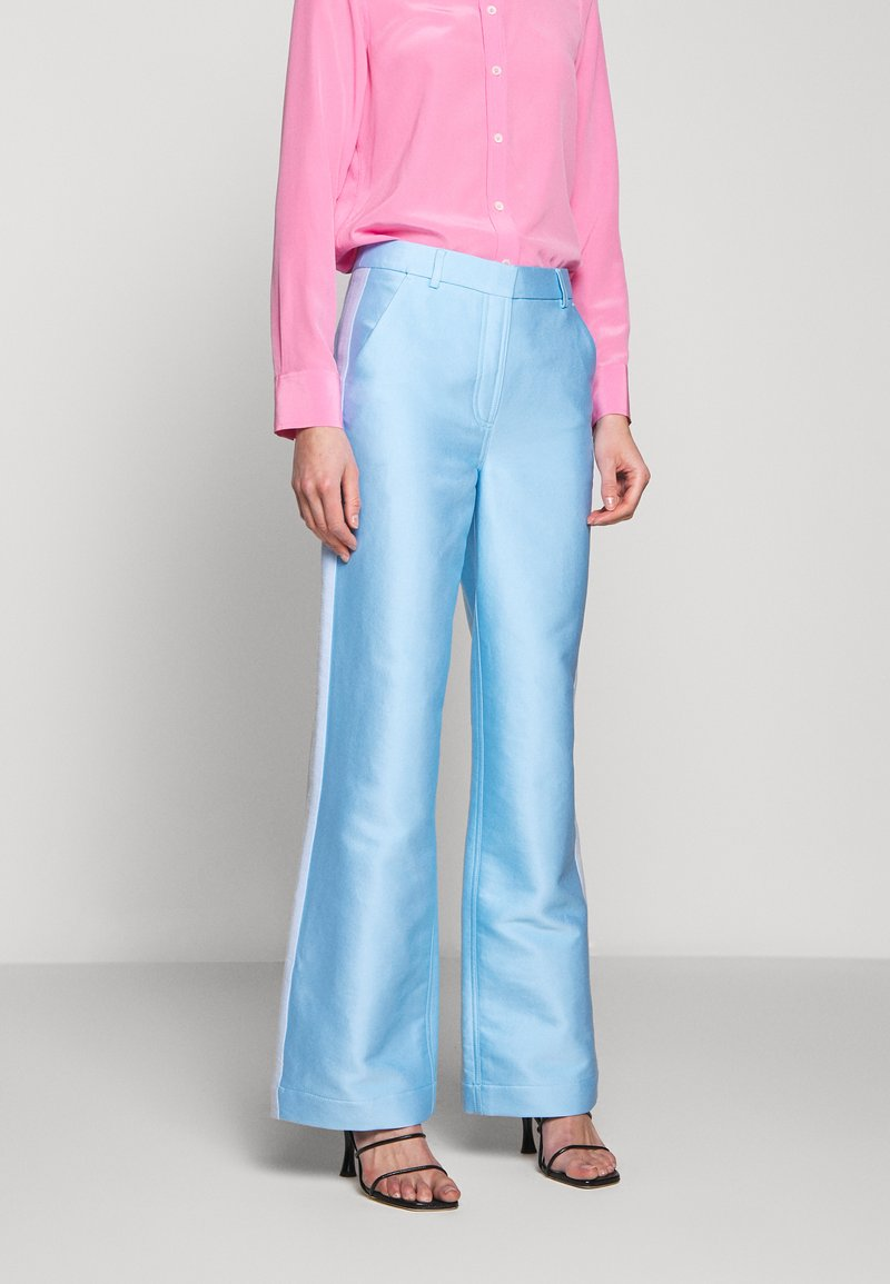 DESIGNERS REMIX - HAILEY FLARE - Trousers - sky blue