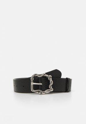 PYTHON AVEC SERPENT - Waist belt - black