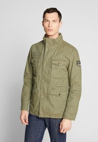 TOM TAILOR - WASHED FIELD JACKET - Summer jacket - olive night green - 0