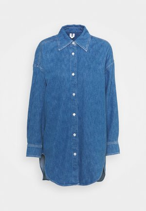 SHIRT - Button-down blouse - mid blue wash