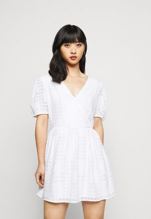 APPLIQUE MINI DRESS - Day dress - ivory
