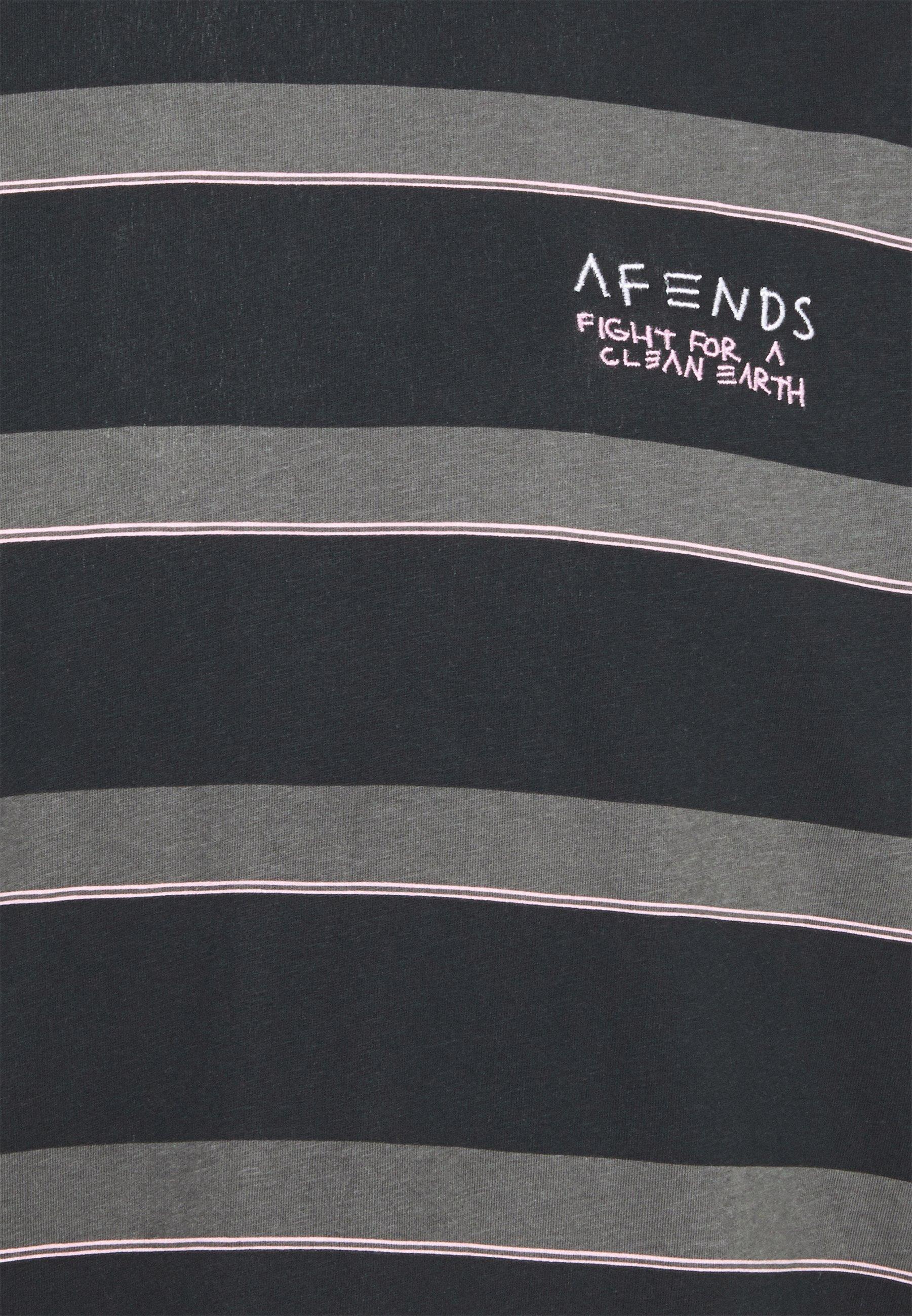 Homme FIGHT STRIPE RETRO FIT TEE UNISEX - T-shirt imprimé