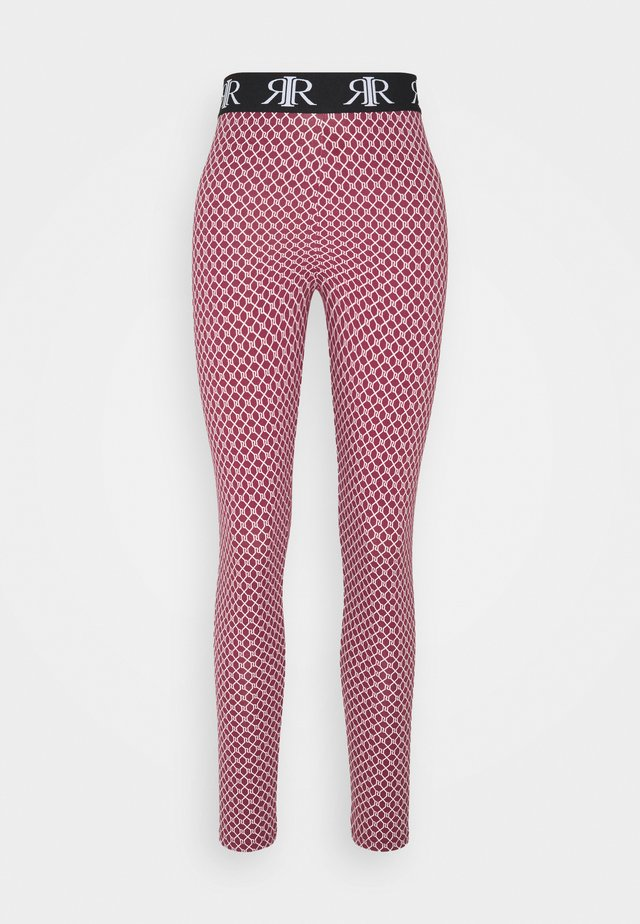 LOGO LEGGING - Leggings - Trousers - pink