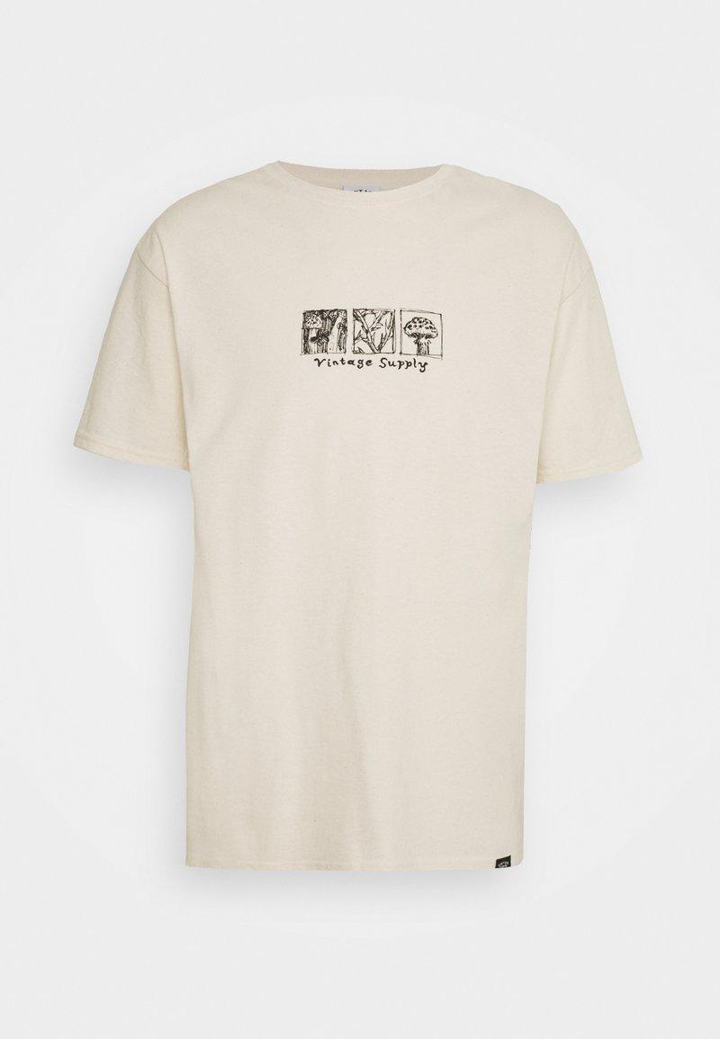 Vintage Supply - MUSHROOM MULTI TEE - Print T-shirt - natural