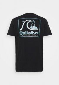 Quiksilver - BEACH TONES - Triko spotiskem - black - 1