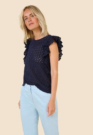 AUS SPITZE - Print T-shirt - nachtblau