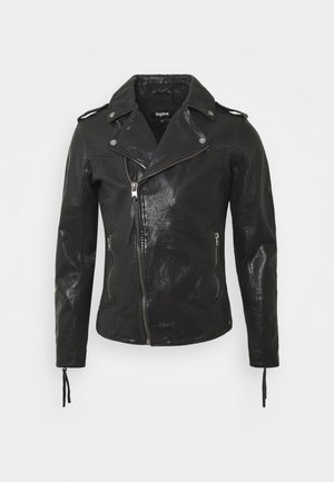 FABRICE - Leather jacket - black