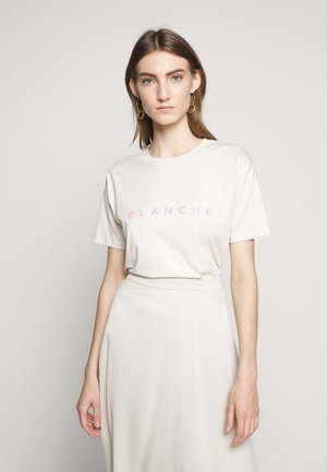 MAIN HOLOGRAM - T-shirt imprimé - white sand