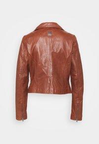 Freaky Nation - BALI - Leather jacket - brandy - 1