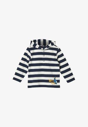 Hoodie - dark blue stripes