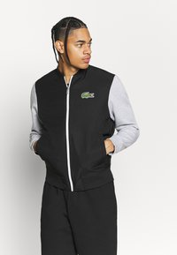 Lacoste Sport - JACKET - Veste de survêtement - black/silver chine/white - 0