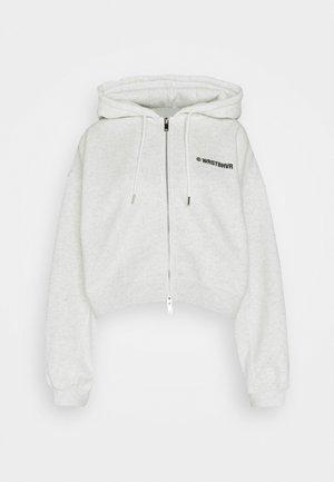 STYLE HOODIE CORBY ZIP - Zip-up hoodie - iced off/white melange
