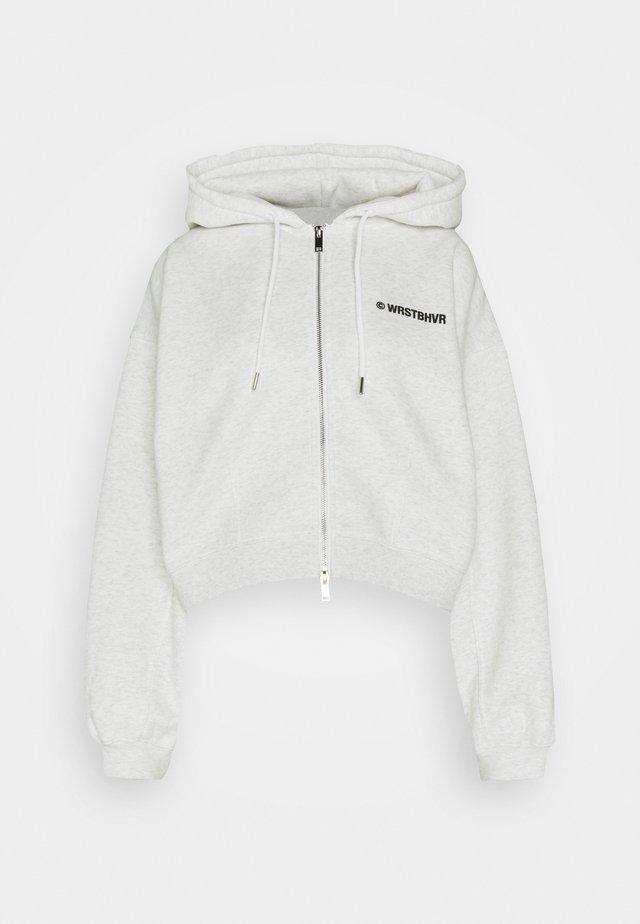 STYLE HOODIE CORBY ZIP - veste en sweat zippée - iced off/white melange