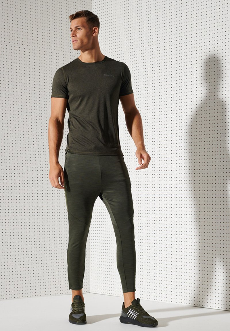 Superdry TRAINING - T-Shirt print - biscay bay stripe/hellblau 0uDP8N