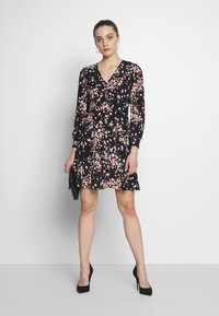 Whistles - MOTTLED ANIMAL BUTTON FRONT DRESS - Day dress - pink/multi - 1