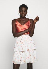 Bruuns Bazaar - ESMINA SKIRT - A-line skirt - brush artwork - 3