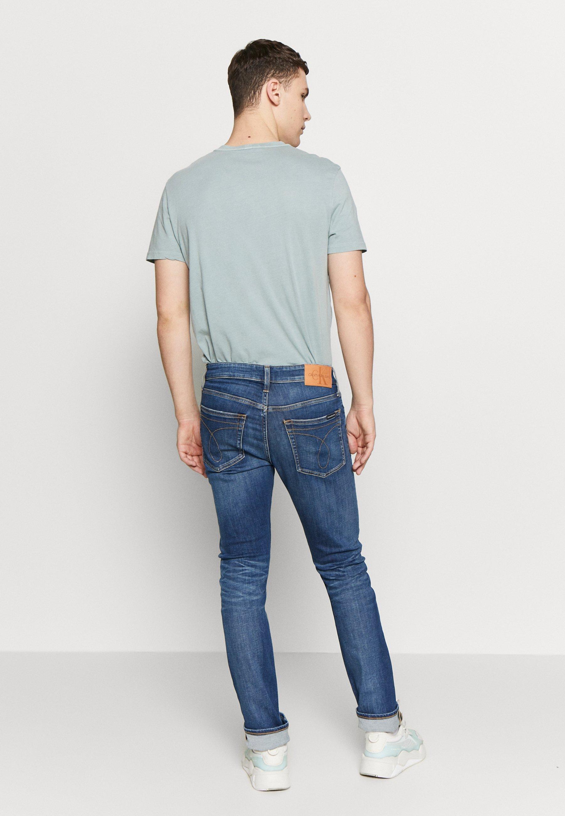 Calvin Klein Jeans SLIM - Jean slim - mid blue
