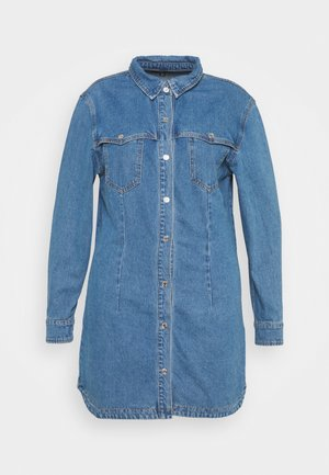 WESTERN YOKE DRESS - Dongerikjole - blue