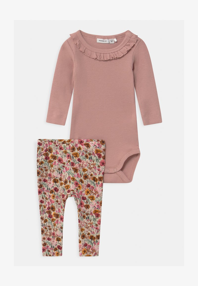 Name it - NBFNYLVA/NBFNANA SET - Leggings - Trousers - adobe rose/withered rose