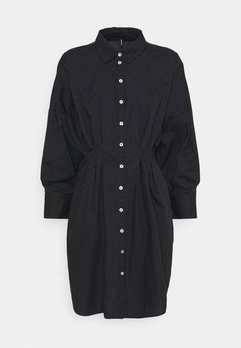 VMCHARLOTTE CALF SHIRT DRESS - Shirt dress - black