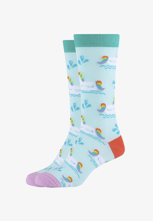 2ER-PACK  SUMMER UNICORN - Socks - sky blue - 451