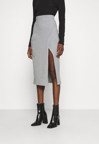 Zign - Pencil skirt - mottled grey - 0
