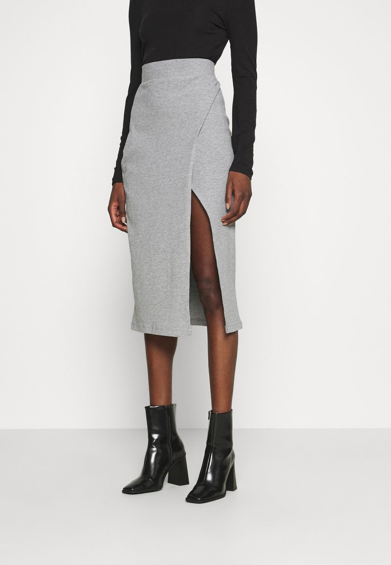 Zign - Pencil skirt - mottled grey