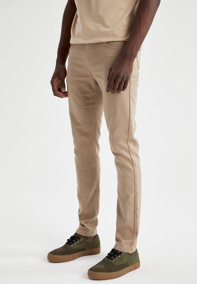 Jeans slim fit - beige