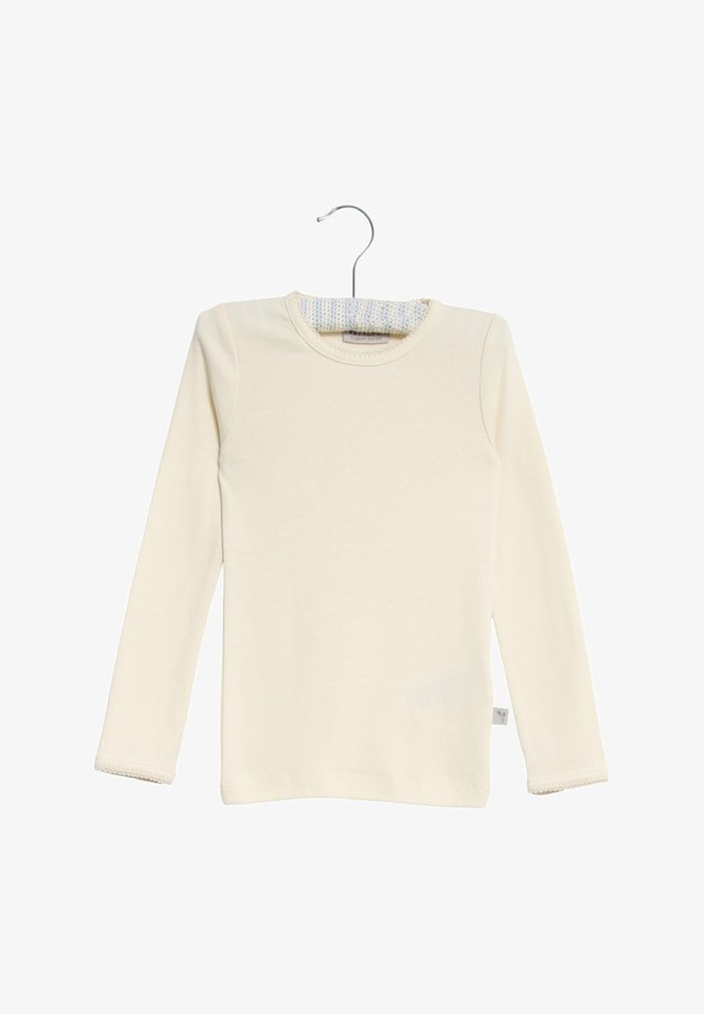 Long sleeved top - eggshell