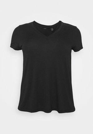 VMSPICY VNECK  - Jednoduché triko - black