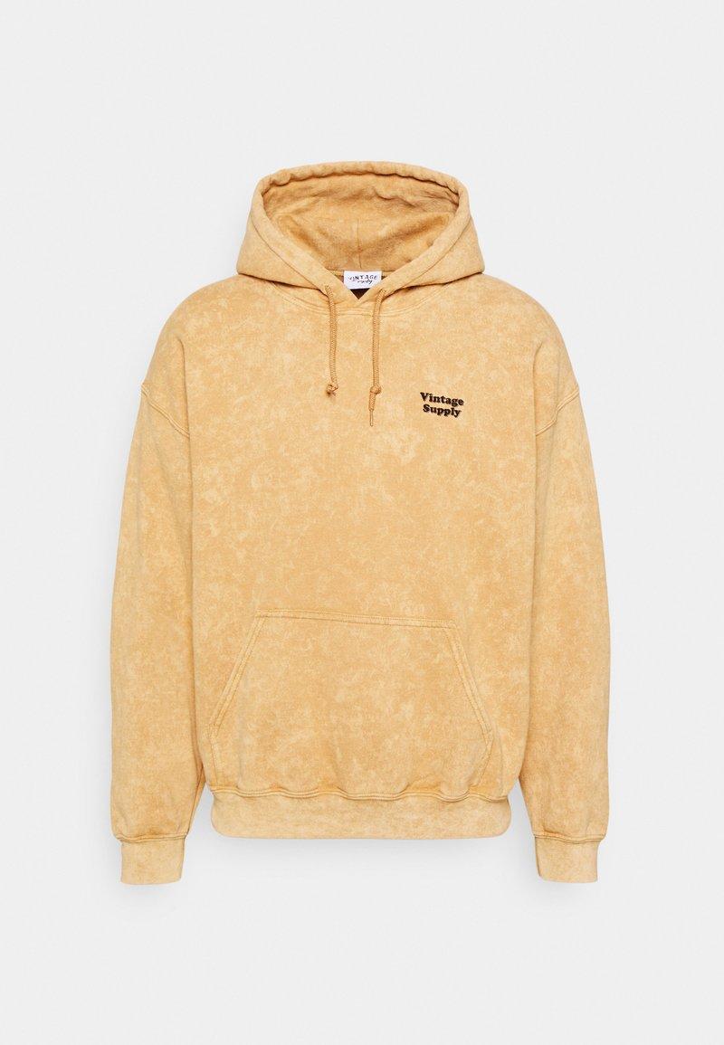 Vintage Supply - CORE OVERDYE HOODIE - Sweatshirt - yellow