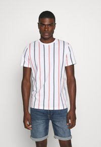 Jack & Jones - JORJERRY TEE CREW NECK  - T-shirt print - white - 0