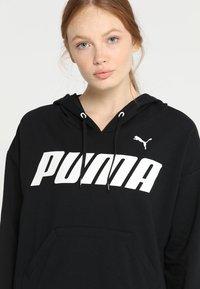 Puma - MODERN SPORTS HOODY - Felpa con cappuccio - black/white - 5