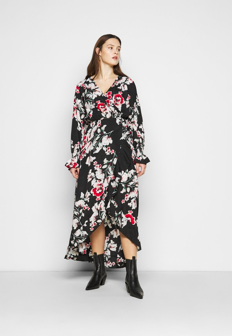 Missguided Plus - WRAP HIGH LOW MAXI DRESS - Day dress - multi