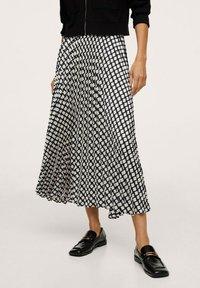 Mango - Áčková sukně - black - 0