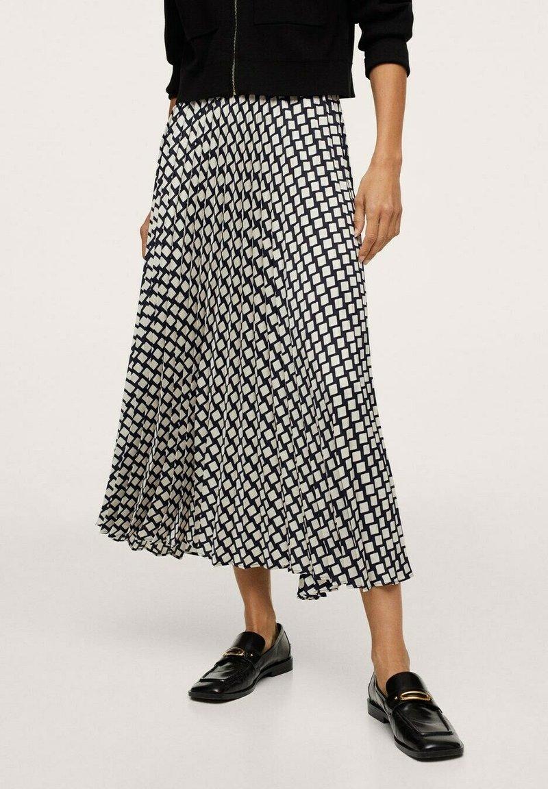 Mango - Áčková sukně - black