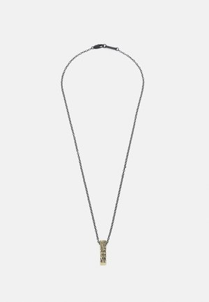 CRACKED BAR NECKLACE - Náhrdelník - black