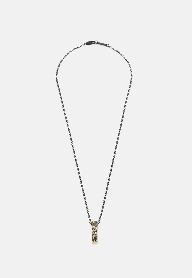 CRACKED BAR NECKLACE - Collana - black