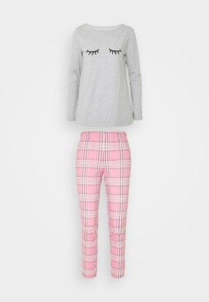 SET  - Pyžamo - pink / grey