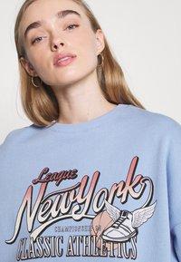 Even&Odd - Printed Crew Neck Sweatshirt - Sweatshirts - blue - 3