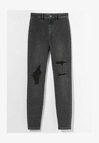 Bershka - MIT RISSEN  - Jeans Skinny Fit - dark grey - 5