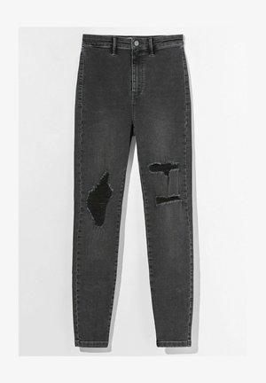 MIT RISSEN  - Jeansy Skinny Fit - dark grey