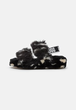 OH YEAH SPOTS - Slippers - black