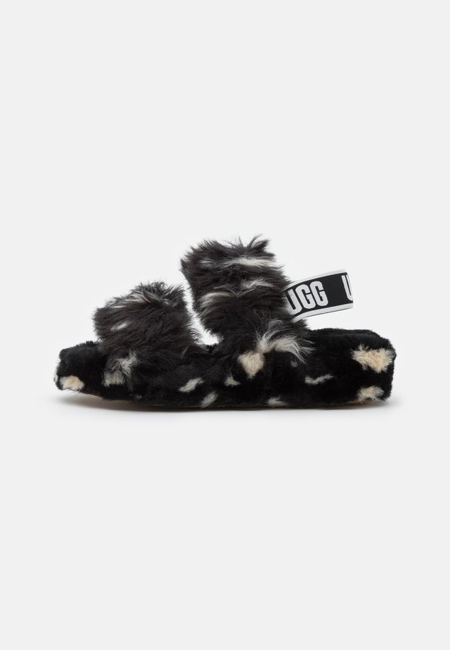 OH YEAH SPOTS - Chaussons - black