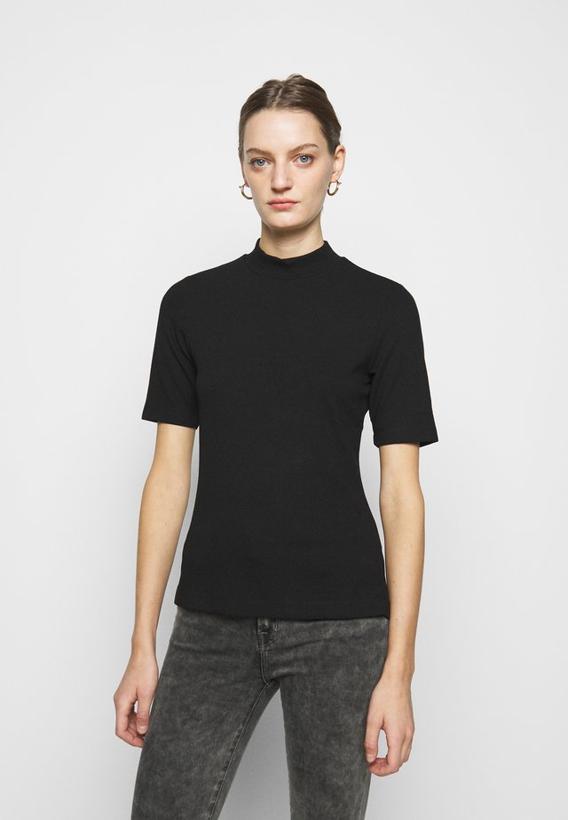 MOCK NECK TEE - T-shirt basique - black