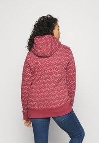 Ragwear Plus - NESKA PRINT ZIP - Zip-up sweatshirt - raspberry - 2