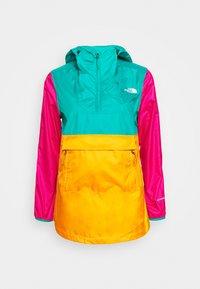 The North Face - WOMENS FANORAK - Windjack - flame orange/jaiden green/mr pink - 5