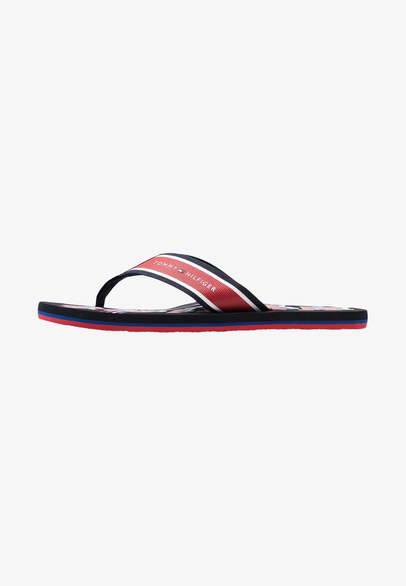 Tommy Hilfiger - CITY PRINT BEACH  - Sandalias de dedo - red