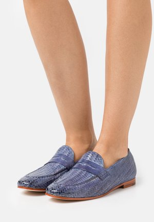 SCARLETT 52 - Slip-ons - moroccan blue/tan/natural
