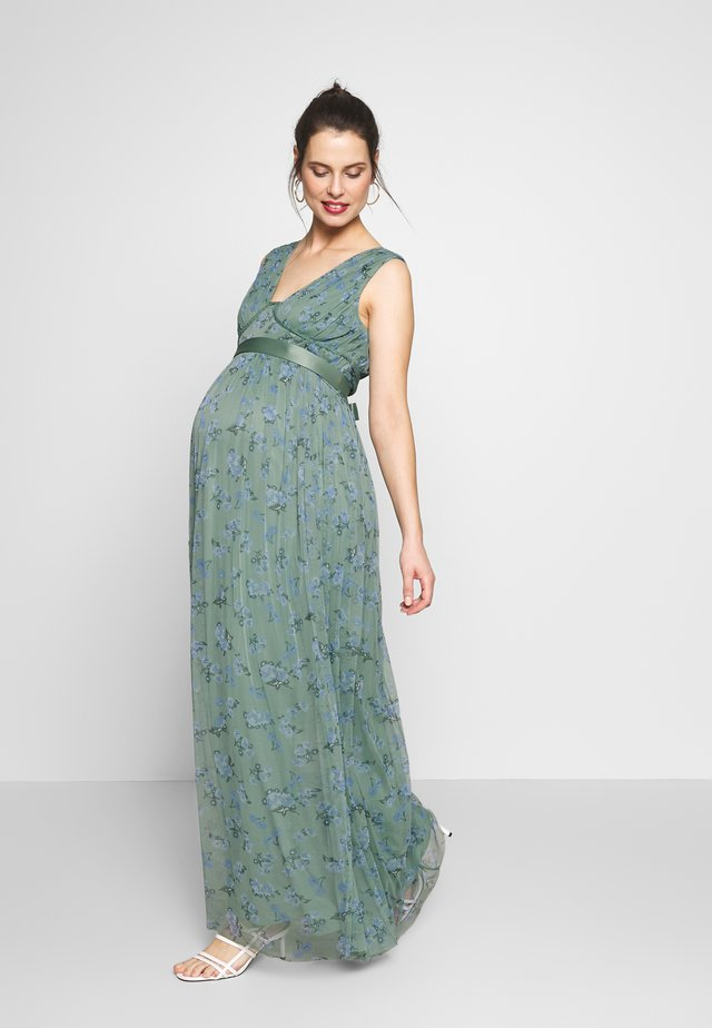 SLEEVELESS V NECK MAXI DRESS - Freizeitkleid - green
